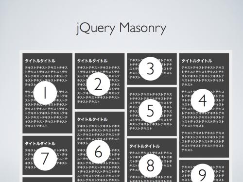 jQuery Masonry