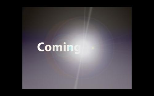 Keynoteエフェクト: Coming Soon