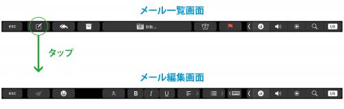Touch Bar Mailアプリの場合