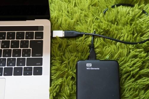 モバイルHDDとの接続
