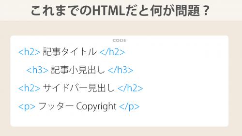 これまでのHTMLだと何が問題?