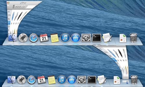 Dock: ウインドウをアプリケーションアイコンにしまう