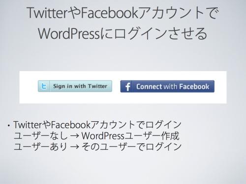 TwitterやFacebookアカウントでWordPressにログインさせる