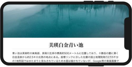 iPhone X表示例