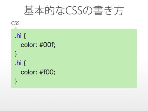 基本的なCSSの書き方